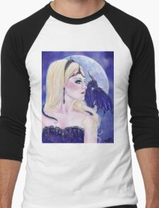 Adelina and the dragons moon by Renee Lavoie Men's Baseball ¾ T-Shirt