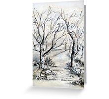 Trees in winter  Greeting Card