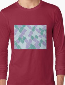 Decorative Sea Colour Design - Ocean Wave Wrap Long Sleeve T-Shirt