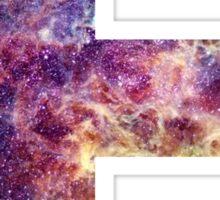 E nebula stars pattern  Sticker