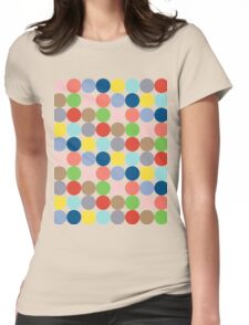 colorful circles of color in pastel Womens Fitted T-Shirt
