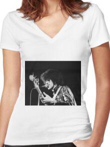 Phil Lynott in London Women's Fitted V-Neck T-Shirt