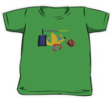 Yellow Critters vs Block Headed Folk Kids Tee