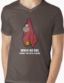 Patrick Meme (Caveman Spongebob Meme) Mens V-Neck T-Shirt