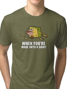 Caveman Spongebob (SpongeGar) Shirt Tri-blend T-Shirt
