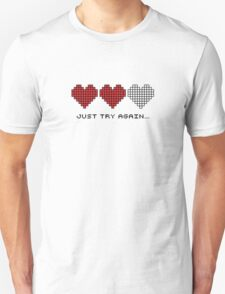 8bit Hearts - Just try again Unisex T-Shirt