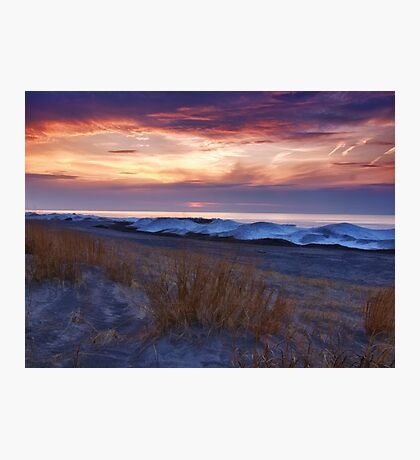 Ice Dunes At Sunset - Erie, PA Photographic Print