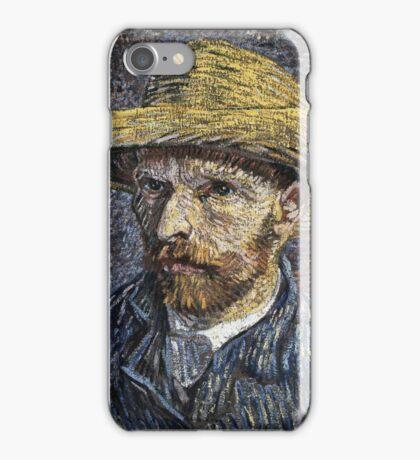 Vincent Van Gogh - Self-Portrait With Straw Hat -Van Gogh - Self-Portrait  iPhone Case/Skin