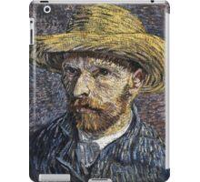 Vincent Van Gogh - Self-Portrait With Straw Hat -Van Gogh - Self-Portrait  iPad Case/Skin