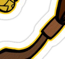 Quidditch Pattern (Hufflepuff) Sticker