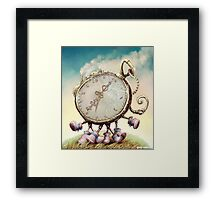 Cute Walking watch, wonderland Framed Print