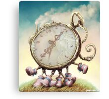 Cute Walking watch, wonderland Canvas Print