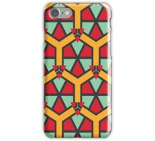 Honeycombs triangles and other shapes pattern iPhone Case/Skin