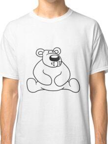 polar bear sitting sweet cute comic cartoon teddy dick big Classic T-Shirt