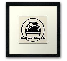 Beetle - Cult on Wheels (black) Framed Print