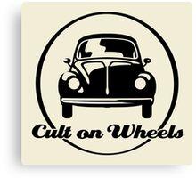 Beetle - Cult on Wheels (black) Canvas Print