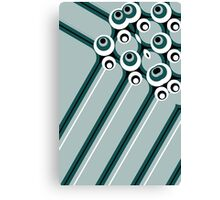 Hyper modern abstract design cyan Canvas Print