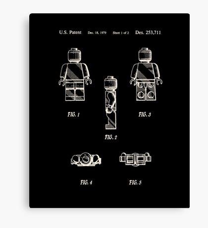 Lego Man Patent 1979 Page 1 Canvas Print