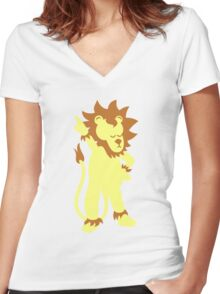 Der Partylöwe - party animal Women's Fitted V-Neck T-Shirt