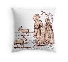 Ancient Greek Goatherd Throw Pillow
