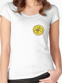 Silkscreen lemon, Stone Roses inspiration Women's Fitted Scoop T-Shirt