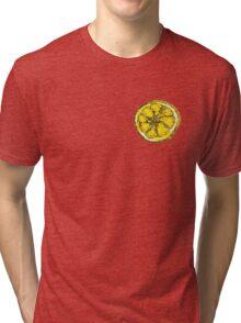 Silkscreen lemon, Stone Roses inspiration Tri-blend T-Shirt
