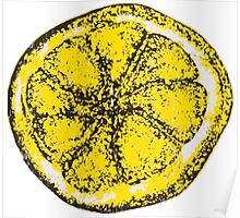 Silkscreen lemon, Stone Roses inspiration Poster