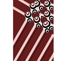 Hyper modern abstract design red Photographic Print