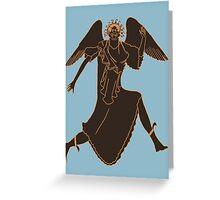 Gorgan - Cursed Monster of Mythology Greeting Card