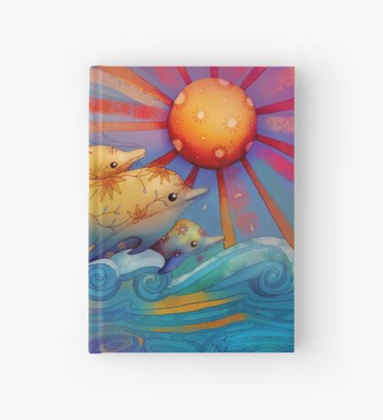 rainbow dolphins Hardcover Journal