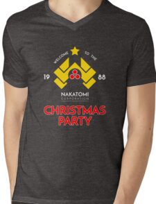 Nakatomi Corp Christmas Party 1988 T-Shirt Mens V-Neck T-Shirt