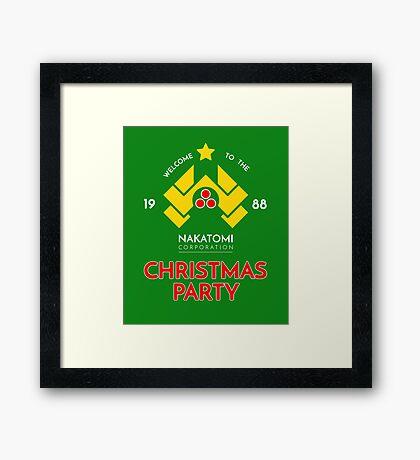 Nakatomi Corp Christmas Party 1988 T-Shirt Framed Print