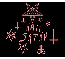 Hail Satan (Red) Photographic Print