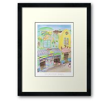 Spirited Away Background Design Framed Print