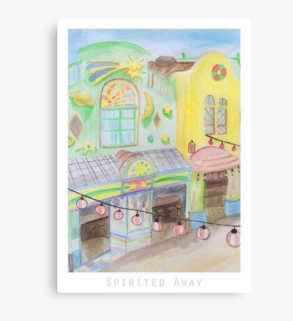 Spirited Away Background Design Canvas Print