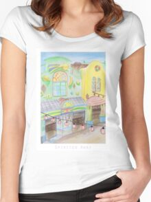 Spirited Away Background Design Women's Fitted Scoop T-Shirt