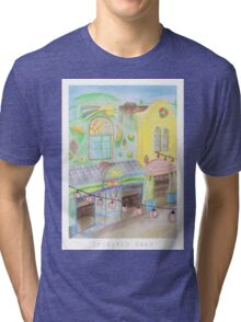 Spirited Away Background Design Tri-blend T-Shirt