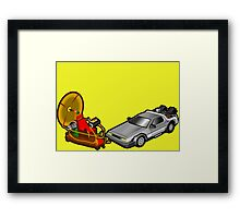 Zeitmaschinenschaden - crash in the fourth dimension Framed Print