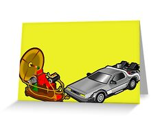 Zeitmaschinenschaden - crash in the fourth dimension Greeting Card