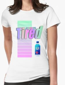 Always tired Vaporwave aesthetics Womens Fitted T-Shirt