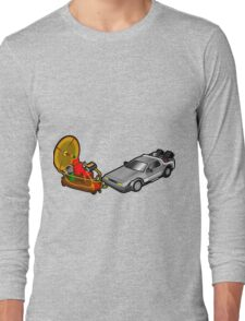 Zeitmaschinenschaden - crash in the fourth dimension Long Sleeve T-Shirt