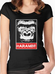 Remember Harambe Women's Fitted Scoop T-Shirt