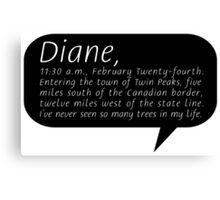 Diane, II Canvas Print