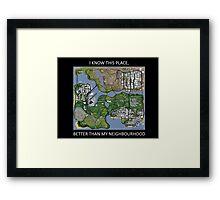 gta san andreas map Framed Print