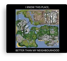 gta san andreas map Canvas Print