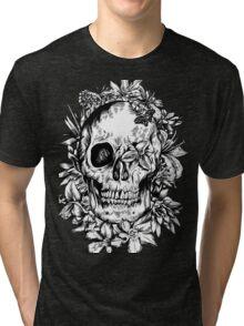 floral skull 1 Tri-blend T-Shirt