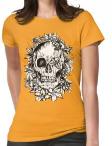 floral skull 1 Womens Fitted T-Shirt