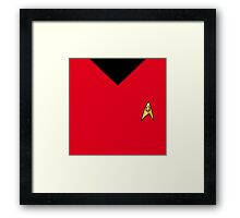 "Star Trek Color and Badge ""Service"" Framed Print"