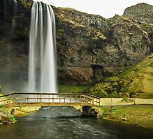 Seljalandsfoss Walking Bridge by Caleb Ward