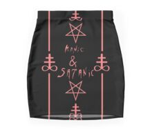 Manic & Satanic (Red) Mini Skirt